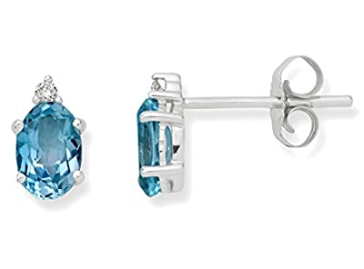 Miore 9 ct White Gold 0.06 ct Diamond and Studs Earrings