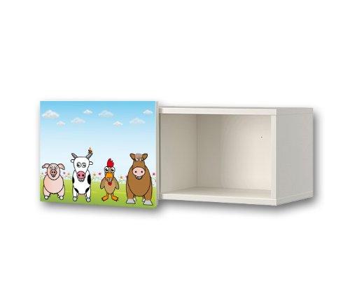 Funny Farm Sticker for Nursery Wall Cabinet / Wall Shelf IKEA BRIMNES - WS04