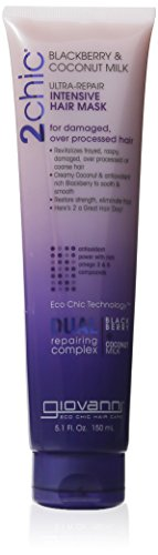 buy Giovanni 2Chic Ultra Repair Hair Mask, Blackberry And Coconut Milk, 5 Fluid Ounce