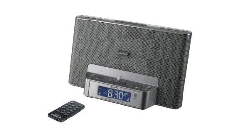 Sony Icfcs15Ipn Lightning Iphone/Ipod Clock Radio Speaker Dock (Silver)