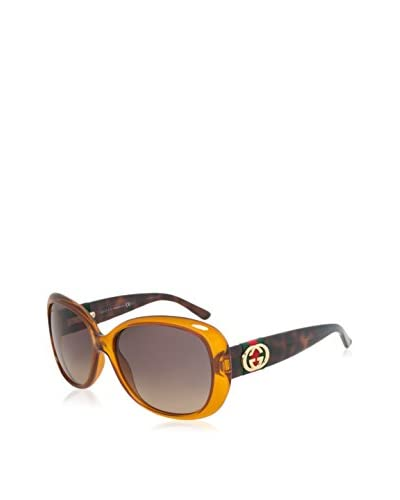 Gucci Women's GCC3644S Sunglasses, Orange/Havana