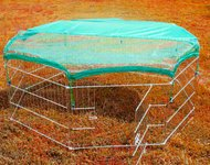 Pawhut Universal Fit Pet Dog Playpen Exercise Yard Mesh Safety Net Cover front-1080627