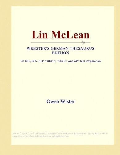 Lin McLean (Webster's German Thesaurus Edition)
