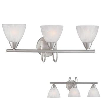 3 Globe Bathroom Vanity Light Bar Bath Lighting Fixture Brushed Nickel A