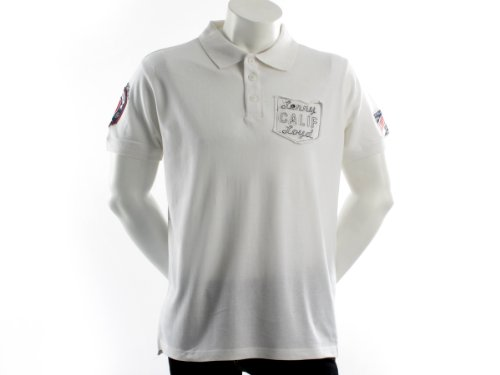 Lenny&loyd 26145terminal Straight White Man Polo Shirts Men - M