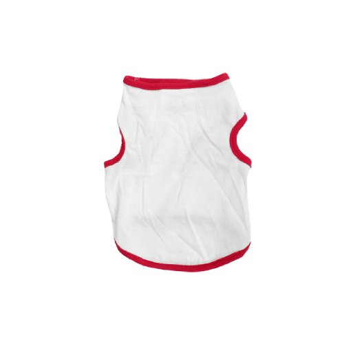 Chihuahua Round Neck Top Tee Shirt Pet Puppy Clothes Red White Size Xs front-1057175