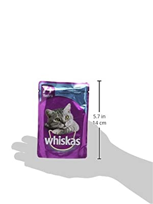 Whiskas Wet Cat Food Pouch for 1+ Adult, Mixed Selection - Pack of 84