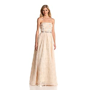 Adrianna Papell Women's Tulle Ballgown, Taupe, 12
