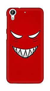 Amez designer printed 3d premium high quality back case cover for HTC Desire 626 G Plus (Red grinning face evil eyes)