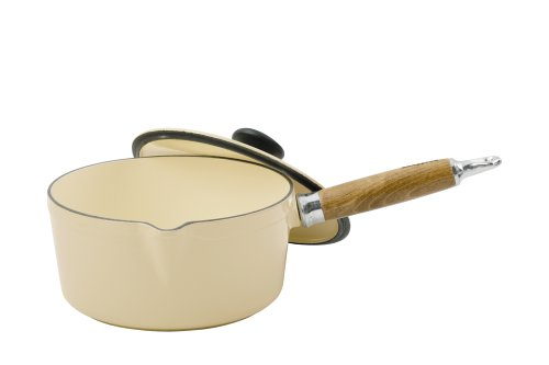 Chasseur Cast Iron 20cm, 2.0ltr Cream Saucepan And Lid