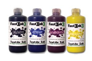Direct to Garment Textile Ink - Fastink3 CMYK Four Pack (8 Oz.)