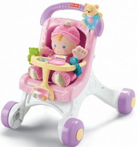 Fisher-Price Brilliant Basics Stroll-Along Walker With Baby'S First Doll front-92161