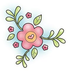 Spring Flower Hippity Hop Snag 'Em Stamp (Imaginisce)