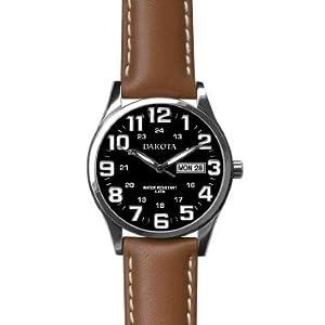 Amazon.com: Dakota Watch Company - Mens Field Watch, Chocolate Leather