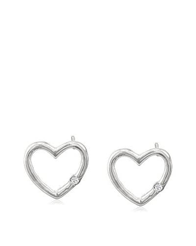 Adoriana .03 Cttw Diamond Heart Earrings