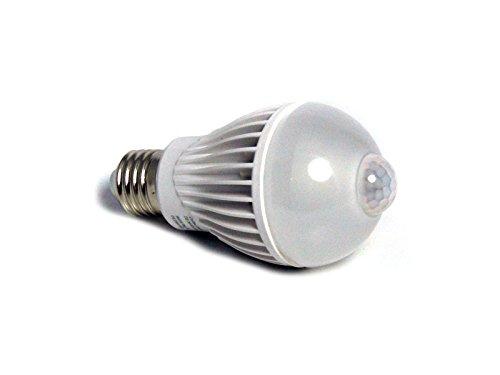 E27 LED-Lampe Birne mit integriertem Bewegungsmelder PIR-Automatik-Sensor-Melder 5W warmweiß 320 Lumen