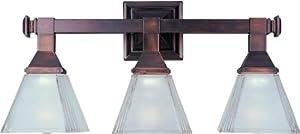 "Maxim MX 11078 Brentwood 20.5"" Wide 3-Bulb Bathroom Light Fixture, Oil Rubbed Bronze by Maxim"
