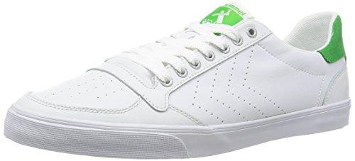 HummelSLIMMER STADIL ACE - Scarpe da Ginnastica Basse Unisex - Adulto , Bianco (Weiß (White/Green 9208)), 44