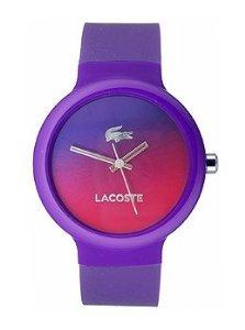 Lacoste Goa 3, in Silicone, colore: viola,#2020079-Orologio Unisex