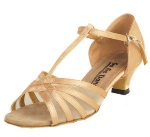 Go Go Dance Shoes Women's 7031, Dark Tan Satin with Mesh Sandal, Size 10 US (Go Go Dance Shoes compare prices)