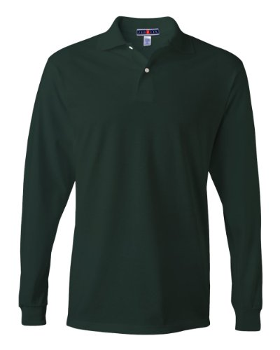 jerzees-437ml-adult-50-50-cotton-and-polyester-long-sleeve-shirt-forest-green-medium