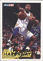 Tim Hardaway Golden State Warriors 1994 Fleer Autographed Hand Signed Trading Card. by Hall of Fame Memorabilia