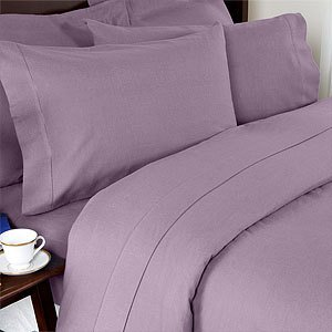 Solid Lilac 300 Thread Count Twin Extra Long Size Sheet Set 100 % Egyptian Cotton 3Pc Bed Sheet Set (Deep Pocket)Twin Xl By Sheetsnthings