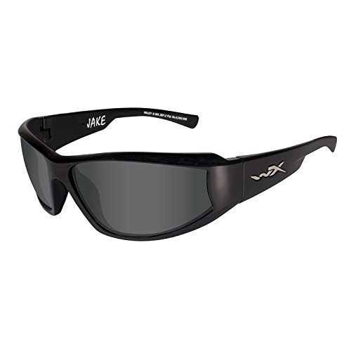 Wiley X Jake Sunglasses, Smoke Grey, Gloss Black