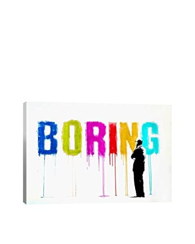 Banksy Boring III Gallery Wrapped Canvas Print