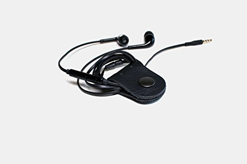 black-leather-cord-holder-set-of-2-cable-organizer-ties-earbud-wrap