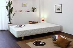 スプリングが裏表使用できるマットレスベッド シングル・ホワイト CS-06-WH-S