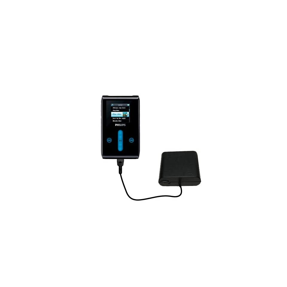 Hot Sync and Charge Straight USB cable Compatible with Philips GoGear SA3105//37 Built with Gomadic TipExchange Technology Charge and Data Sync with the same cable