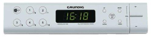 Grundig GKL0353 Radiosveglia Sonoclock 690W da Incasso, colore: bianco