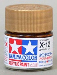 タミヤカラー アクリルミニ X-12 ゴールドリーフ 光沢