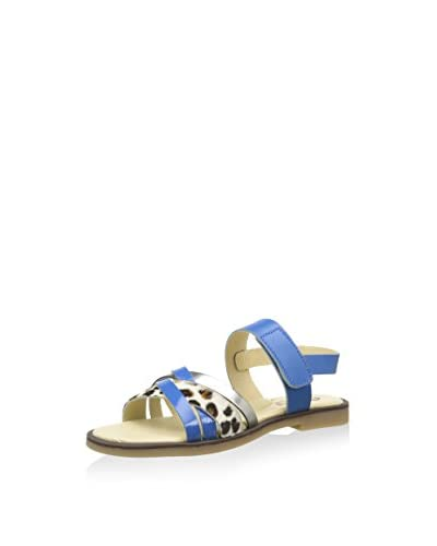 Billowy Sandalias planas Azul Royal