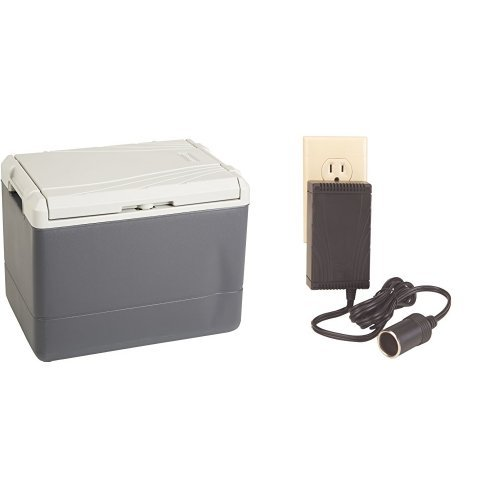 Coleman 40 Quart PowerChill Thermoelectric Cooler and Coleman Thermoelectric Cooler 120-Volt Adapter Bundle (Coleman Cooler Power Adapter compare prices)