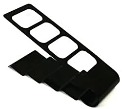 UMATH Universal remote control stand metal organizer/holder Black