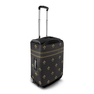 luggage-protector-pattern-black-fleur-de-lis-size-small