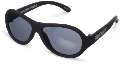 Babiators Unisex-Baby Infant Ops Junior Sunglasses, Black, Small