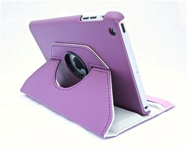 Apple Ipad Mini 4 (2015-2016) 360 Degree rotation Light Purple Horizontal & Vertical View Leather Cover For Apple New Ipad Mini 4 (2015-2016) by G4GADGET®
