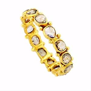 18K YELLOW GOLD DIAMOND ETHNIC RING JEWELRY