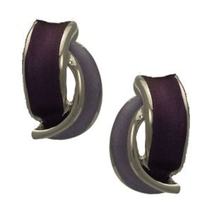 Seduction Silver Plated Purple Clip On earrings by Rodney