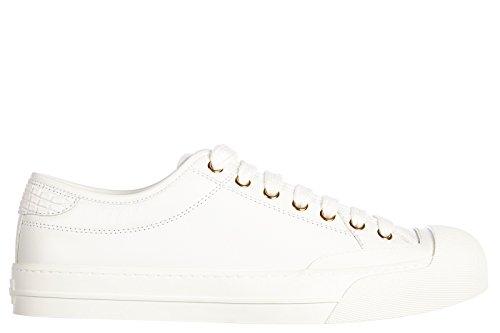 Gucci scarpe sneakers uomo in pelle nuove moorea bianco EU 41 379648 BTR70 9070