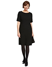 Classic Crêpe Shift Dress