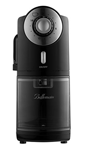 Top Rated Bellemain Burr Coffee Grinder with 17 Settings for Drip, Percolator, Steam or Pump Espresso, French Press and Turkish Coffee Makers