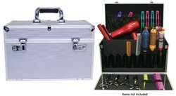 City Lights Lockable Aluminum Tool Case, Silver