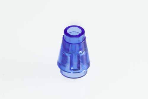 100x Lego Transparent Purple Nose Cone Small 1x1 Super Pack