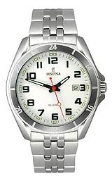 Festina Steel Collection Bracelet White Dial Men's watch #F16278/7