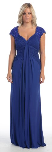 Mother of the Bride Formal Evening Dress #799 (5XL, Royal Blue)