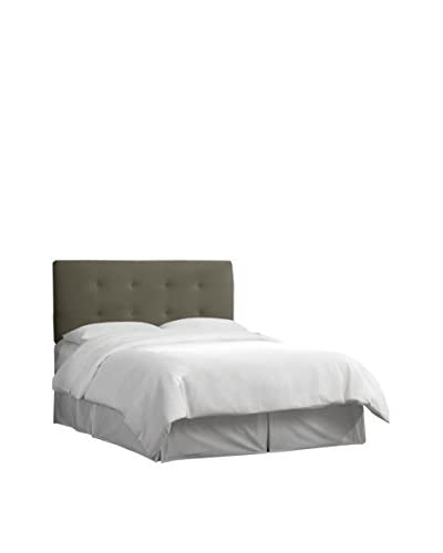 Skyline Furniture Queen Tufted Headboard, Velvet Pewter